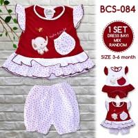 BABY LEON Setelan Baju Bayi Cewek BCS-084/ Pakaian Baby Cewek Random