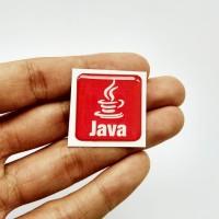 JAVA Emblem Stiker Resin Aksesoris Casing PC dan laptop