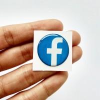 FACEBOOK ICON Emblem Stiker Resin Aksesoris Casing PC dan laptop
