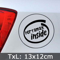Stiker Tangki Mobil Pertamax Inside Parody Intel Inside - Car Sticker