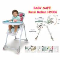 Baby Safe Deluxe High Chair HC006 / kursi makan bayi