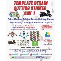 Template Desain Cutting Sticker CNK1 decal pola striping motor