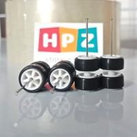 Ban Karet hotwheels model TE37 Putih