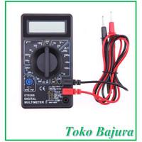 Digital multimeter multitester avometer ohmmeter tipe DT830B + baterai