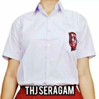 BAJU SERAGAM SD LENGAN PENDEK SABLON NO (6 s/d 16)