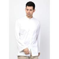 Allev Baju Muslim Pria Baju Koko Pria Zulkifli Long Sleeve Shirt Putih