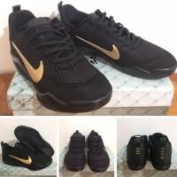 Sepatu Basket Nike Kobe 11 (Xi) Elite Flyknit Black Mambaa Last Game