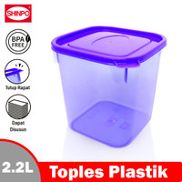 SHINPO Toples Plastik L 2.3 L Tempat Cemilan Boccadillo SPO-SIP-304L