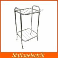Rak Dispenser Stainless Serbaguna / Meja Guci Galon Rice Cooker