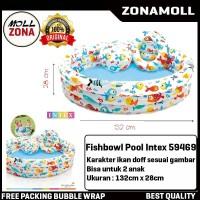 Kolam Renang Anak SET BONUS Bola dan Ban Fishbowl Pool INTEX 59469