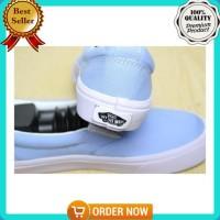 Terpopuler ! Sepatu Vans Slip On Biru Muda Slipon Baby Blue Pastel