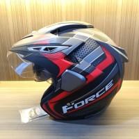Helm Half Face Double Visor Anti Pecah SNI Force Cassanova Doff