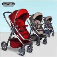 Kereta Dorong Bayi Stroller BabyElle S989 Madison / Red / Blue +