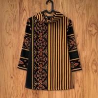 blouse lurik batik gaya baju batik kantor baju tenun premium