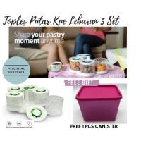 Toples Kue Lebaran Cantik Set 5 Murah Arniss - Toples putar promo