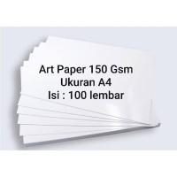 Art Paper 150 Gsm A4 100 Lembar