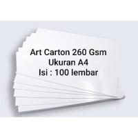 Art Carton 260 Gsm A4 100 Lembar