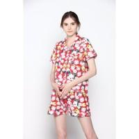 Piyama Baju Tidur TsumTsum Merah - Premium , Adem , Nyaman Baju Rumah