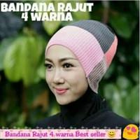 INNER Ciput Rajut 4 Warna Bandana Anti Pusing Dalaman Hijab