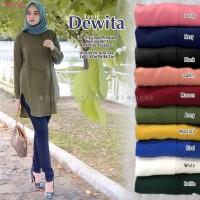 baju wanita atasan dewita tunik muslim simple casual santai modis top