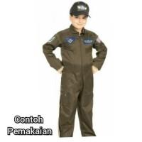 Prormo Baju Profesi Pilot Tempur Anak - 3-4 Tahun, Hijau Termurah