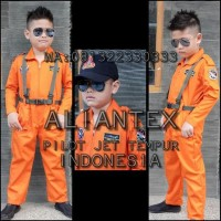 Prormo Baju Pilot Tempur Anak/ Baju Profesi Anak /Kostum Anak - 3-4