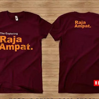 Kaos Baju Obral Combed 30 Distro Explore Exploring Raja Ampat Papua