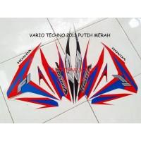 Striping Motor Honda vario Techno F1 125 2013 Full Putih merah