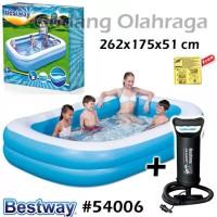 Bestway 54006 Kolam Renang Karet Anak Keluarga Besar 262 cm + Pompa