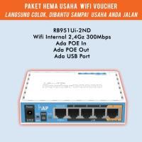Paket Hemat Usaha Wifi Voucher Mikrotik RB951ui 2ND