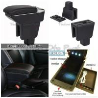 Armrest Console Box BRV Mobilio Brio Dual Layer 7 Usb + Led Light