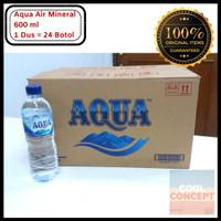 Aqua Air Mineral 600 ml 1 Dus Karton Isi 24 Botol Tanggung Air Minum