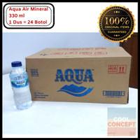 Aqua Air Mineral Mini 330 ml 1 Dus Isi 24 Botol Air Minum (Gojek/Grab)