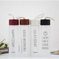 Botol Lucky Day / Good Morning / Happy day / Botol Air Minum Kaca