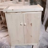Meja Akuarium Putih Costum 50X40X70