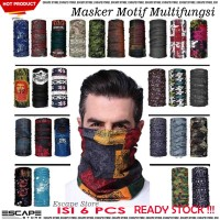 Masker Buff Bandana MOTIF Import Tanpa Jahitan Multifungsi - ISI 6 PCS