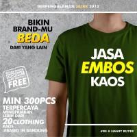 EMBOS KAOS SABLON CUSTOM CLOTHING POLOS PRIA WANITA (EMBOSS KAOS)