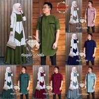 Batik Couple Gamis Syari DnT Sarimbit Baju Batik Kebaya Modern