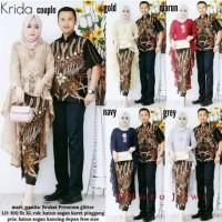 Batik Couple sarimbit Krida Brukat- Sarimbit Baju Batik Kebaya Modern