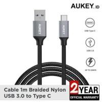 Aukey CB-CD2 Braided Nylon Quick Charge 3.0 USB Type C Original