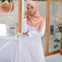 Muslimore Baju Muslim Wanita Gamis Murah Putih Polos Balotelli XNB-03 - Putih, XL