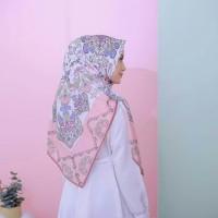 hijab premium segi empat kode ottoman pink bahan voal