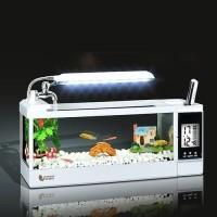 Desktop Akuarium ikan Aquarium Mini USB Fish Tank TG-03M