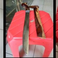 golok baja d2 sarung-handle kayu