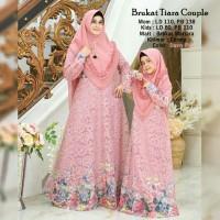 Maxi Couple Mom n Kids/Baju Couple Lebaran/Baju Muslim Brokat Anak