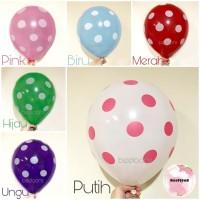 Balon Latex Polkadot / Balon Latex / Balon Bulat