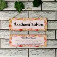 Hiasan pintu rumah Assalamualaikum 1 set