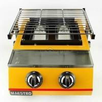 Panggangan/Bakaran Gas 2 Tungku Merk Maestro(Penutup Kaca)