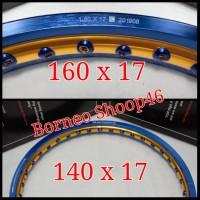 vleg velg pelek TDR 2tone Blue Gold 140 x 17 160 x 17 RING 17