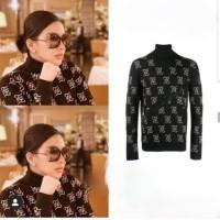 blouse fendi v neck SyR /atasan import /baju import bangkok